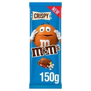 M&M's Crispy Milk Chocolate Block 150G