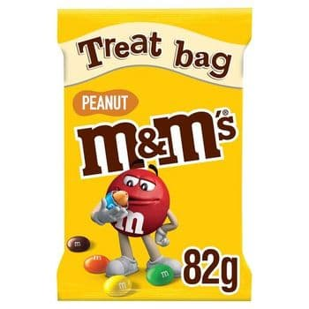 M&M's Peanut Chocolate Treat Bag 82G