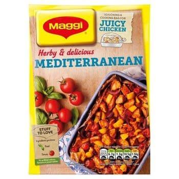 Magg Juicy Mediterranean Chicken Seasoning & Cooking Bags 37G