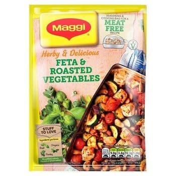 Maggi Herby & Delicious Feta & Roasted Vegetable Bag 30G