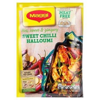 Maggi Meat Free Sweet Chilli Halloumi Recipe Mix 44G