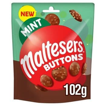 Maltesers Buttons Mint Chocolate Pouch 102G