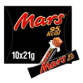 Mars 95Kcal Chocolate Snack Bars 10 Pack 210G