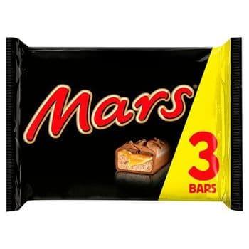 Mars Chocolate Bars Multipack 3X39.4G