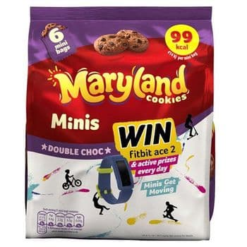 Maryland Cookies Minis Double Chocolate Chip 6 Pack 118.8G