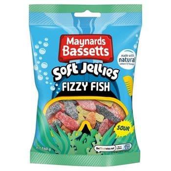 Maynard Bassetts Fizzy Fish Sweets160g