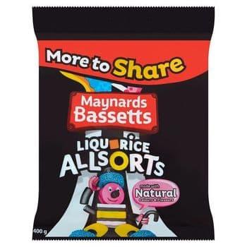 Maynards Bassetts Allsort Liquorice 400G