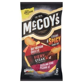 Mccoy's Strong & Spicy Crisps 6X25g
