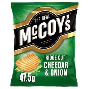 Mccoys Cheddar & Onion Crisps 47.5G