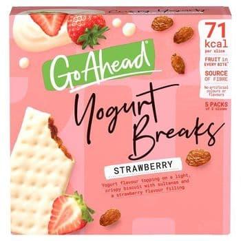 Mcvitie Go Ahead Yogurt Breaks Strawberry 5X35.5G