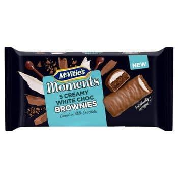 Mcvitie Moments White Chocolate Cream Brownies 5 Pack