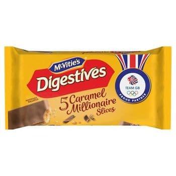 Mcvities Digestive Caramel Slice 5 Pack 124.4G