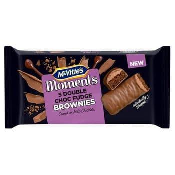 Mcvities Moments 5 Double Chocolate Fudge Brownies