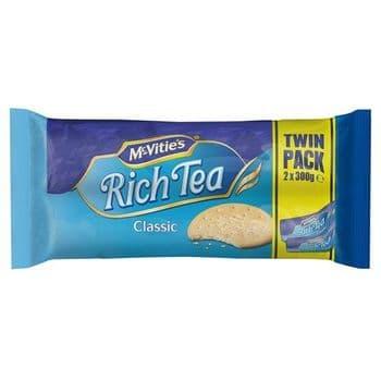 Mcvities Rich Tea Twin Pack 2 X 300G