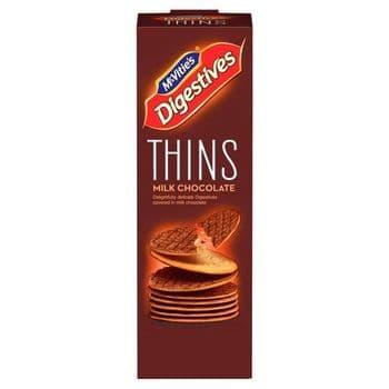 Mcvities Thins Milk Chocolate 180G