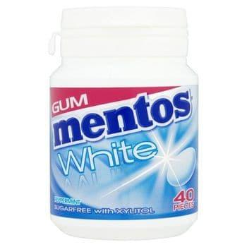 Mentos Gum White Peppermint Bottle 60G