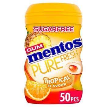 Mentos Pure Fresh Tropical Chewing Gum 100G
