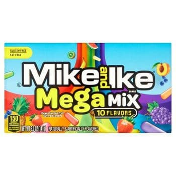 Mike & Ike Mega Mix Fruit Candies 10 Flavours 141G