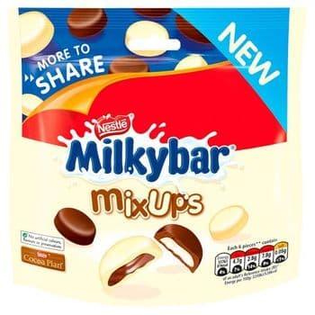 Milkybar Mix Ups White & Milk Chocolate Share Pouch 196G