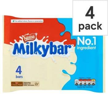 Milkybar White Chocolate 4 Pack 100G