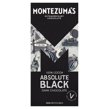 Montezuma's Absolute Black Dark Chocolate Cocoa 90G