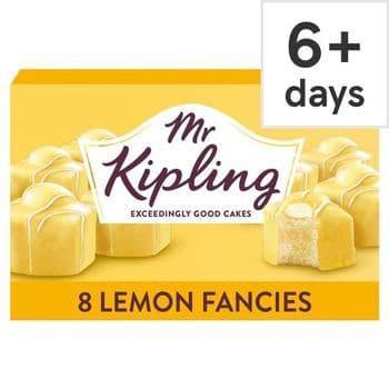 Mr Kipling 8 Lemon Fancies Sponge Cakes