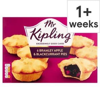 Mr Kipling Apple & Blackcurrant Pies 6 Pack