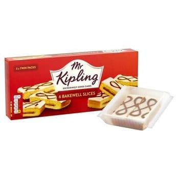 Mr Kipling Bakewell Slice 6 Pack