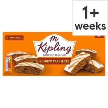 Mr Kipling Carrot Cake Slices 6 Pack