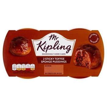 Mr. Kippling Sponge Pudding Sticky Toffee 2X95g