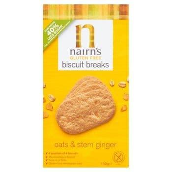 Nairns Gluten Free Ginger Biscuit Break 160G