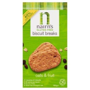 Nairns Gluten Free Oats & Fruit Biscuits 160G