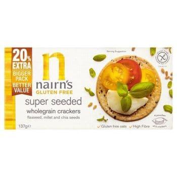 Nairns Gluten Free Seeded Crackers 137G