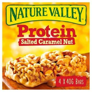 Nature Valley Protein Salted Caramel Nut Bars 4X40g