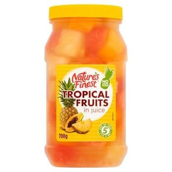 Natures Finest Tropical Fruit Salad In Juice 700G