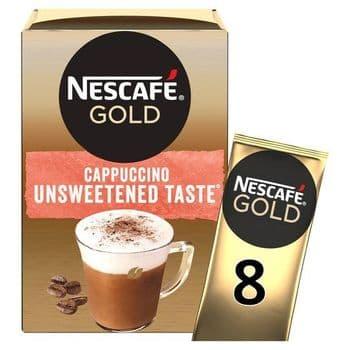 Nescafe Gold Cappuccino Unsweetened 8 Sachets 113.6G