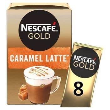 Nescafe Gold Latte Caramel Coffee 8 X 17G