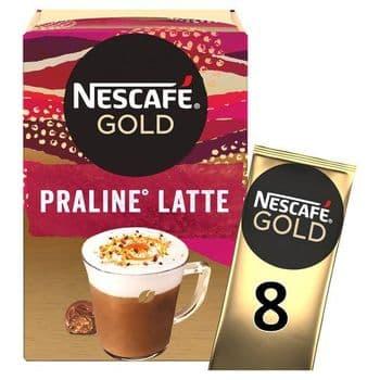 Nescafe Gold Praline Latte 8 Sachets 144G