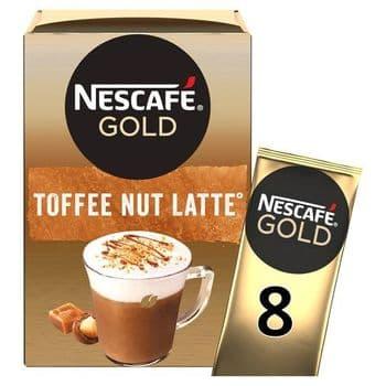 Nescafe Gold Toffee Nut Latte 8 Sachet 156G