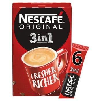 Nescafe Original 3In1 6 Sachets 102G