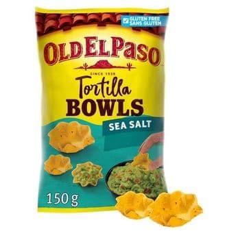 Old El Paso Sea Salt Tortilla Chip Bowls 150G
