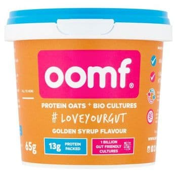 Oomf Protein Oats & Biological Culture Golden Syrup Flavour 65G