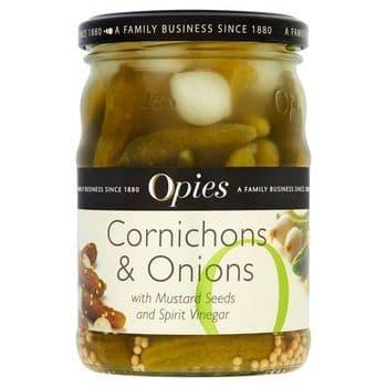 Opies Cornichons & Onions 350G
