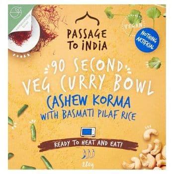 Passage To India Cashew Korma With Rice 280G
