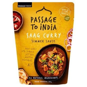 Passage To India Saag Curry Simmer Sauce 375G