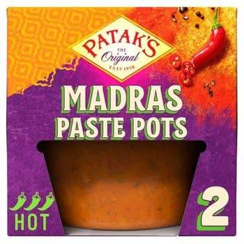 Pataks Madras Paste Pots 2X70g