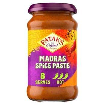 Pataks Madras Spice Paste Medium Hot Jar 283G