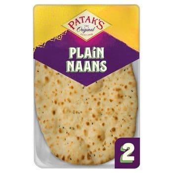 Pataks Plain Naan Bread 2 Pack