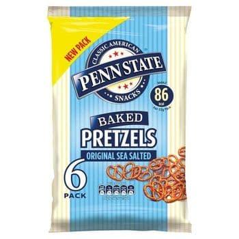 Penn State Sea Salted Pretzels 6X22g