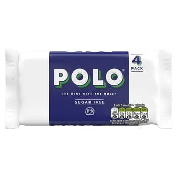 Polo Sugar Free Tube Multipack 4 X 33.4G
